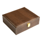 Cigar Humidors Brown Cadeau Gift Set