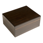 Cigar Humidors 40 CT Black Walnut