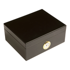 Cigar Humidors 50ct Rembrandt Black