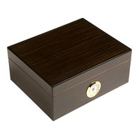 Cigar Humidors 50ct Rembrandt Black Walnut