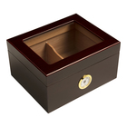Cigar Humidors 25ct Monaco Red Walnut