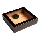 Prestige Cigar Humidors Chateau Glass Top Black