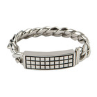 Room 101 Jewelry Stainless Raised Checker 8.5 In. Bracelet