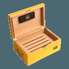 Cigar Humidors Yellow with Digital Hygrometer