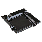 Cigar Ashtrays Ceramic Square Black