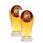 Beer Glasses Set of 2 Bering Logo Glasses
