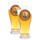 Beer Glasses Set of 2 Bolivar Logo Glasses