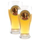 Beer Glasses Set of 2 Mocha Logo Glasses