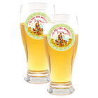 Beer Glasses Set of 2 El Rey Del Mundo Logo Glasses