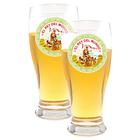 Beer Glasses Set of 2 El Rey Del Mundo Logo Glasses