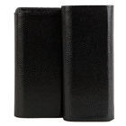 Premium Leather 3-Churchill Sharkskin Black Case