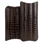 Premium Leather 3-Churchill Brown Crocodile Case
