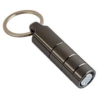 Premium Cigar Cutters Gunmetal Twist Punch With Key Ring