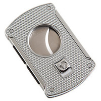 Colibri Cigar Cutters Silver Carbon Fiber Slice
