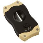 Colibri Cigar Cutters Black & Gold V-Cut