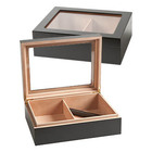 Cigar Humidors Blackwood Glass Top