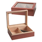 Cigar Humidors Cherrywood Glass Top