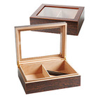 Cigar Humidors Exotic Wood Glass Top