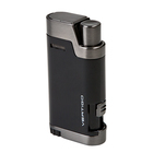 Vertigo Cigar Lighters Black Bullet Dual Flame With Cigar Punch