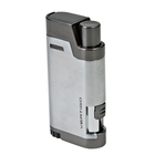 Vertigo Cigar Lighters Silver Bullet Dual Flame With Cigar Punch