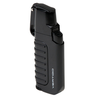 Vertigo Cigar Lighters Black Trek Dual Flame