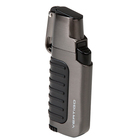 Vertigo Cigar Lighters Gunmetal Trek Dual Flame