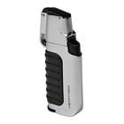 Vertigo Cigar Lighters Silver Trek Dual Flame