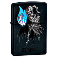 Zippo Death With Blue Flame