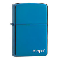 Zippo Sapphire With Logo